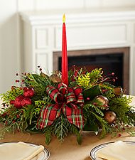 single candle centerpiece